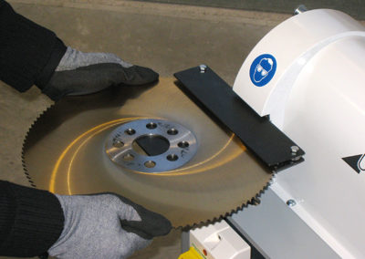 AB 500 Saw blade chip / burr removal