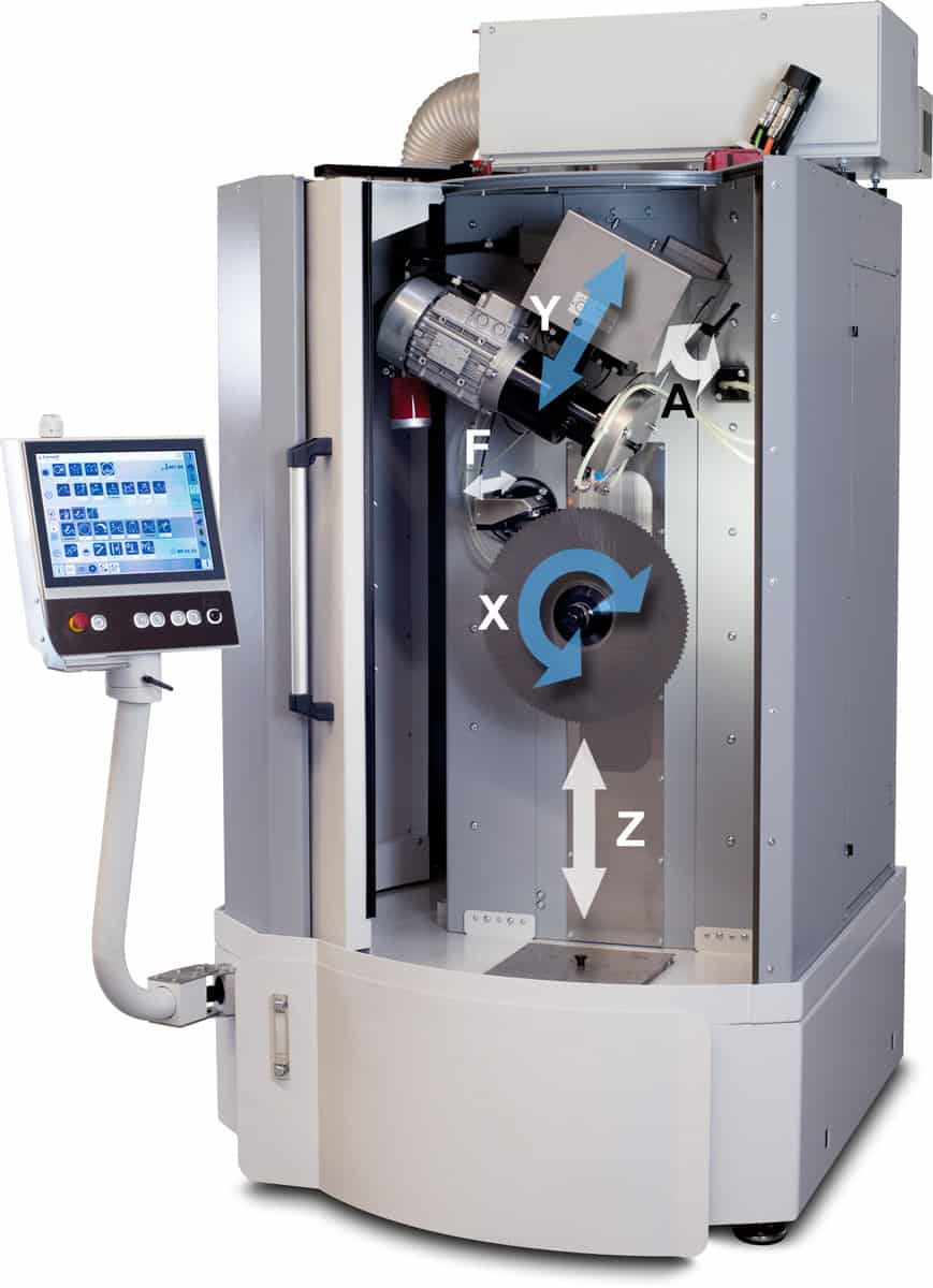 solution K850-T 5 controlled axes, including 2 simultaneous CNC controlled axes