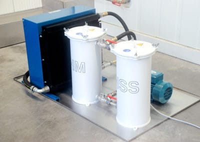 solution K850-T External HSS- and carbide filter with coolant chiller unit